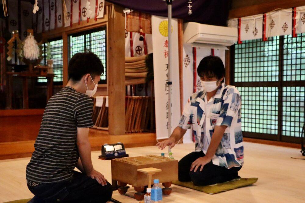 S級決勝戦の「奉納対局」北川-竹下戦